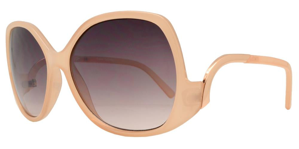 Wholesale - FC 6289 - Oversize Cruved Temple Women's Plastic Sunglasses - Dynasol Eyewear