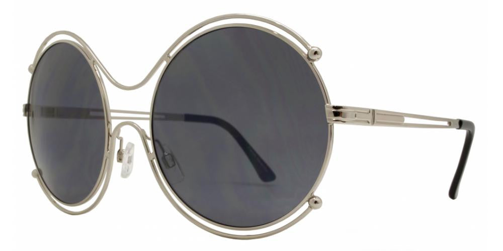 Dynasol Eyewear - Wholesale Sunglasses - FC 6295 - Oversize Round Cutout Metal Sunglasses - sunglasses