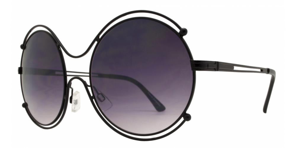 Wholesale - FC 6295 - Oversize Round Cutout Metal Sunglasses - Dynasol Eyewear