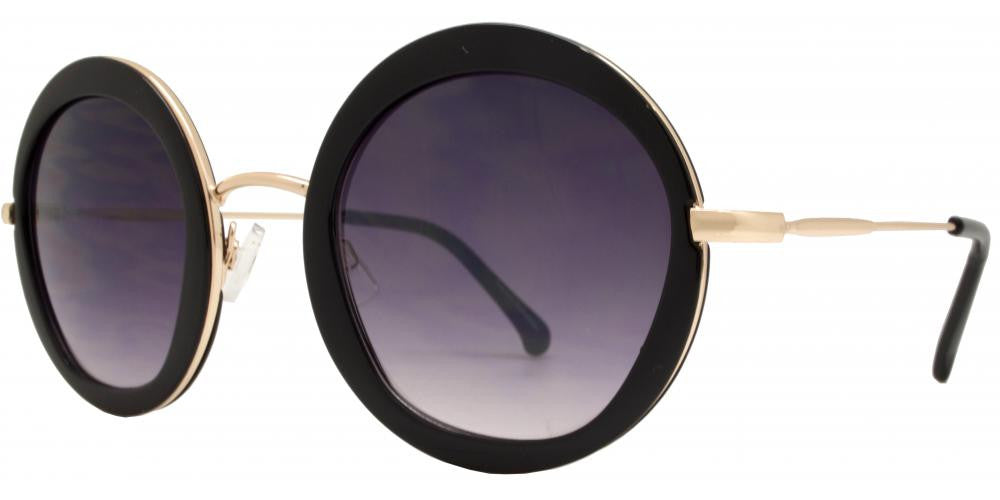 Wholesale - FC 6312 - Round Metal Trim Plastic Sunglasses - Dynasol Eyewear