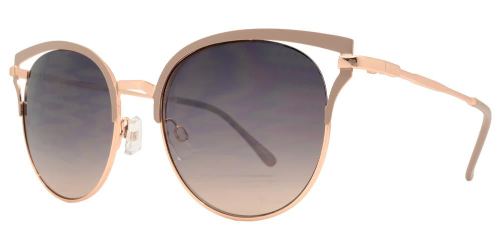 Dynasol Eyewear - Wholesale Sunglasses - FC 6318 - Round Cat Eye Women Metal Sunglasses - sunglasses