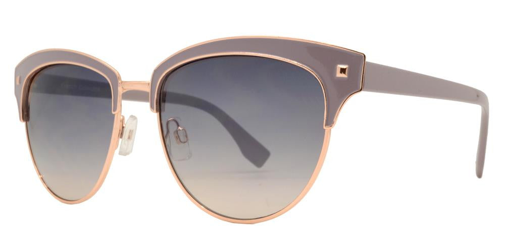Dynasol Eyewear - Wholesale Sunglasses - FC 6324 - Retro Horn Rimmed Round Metal Sunglasses - sunglasses