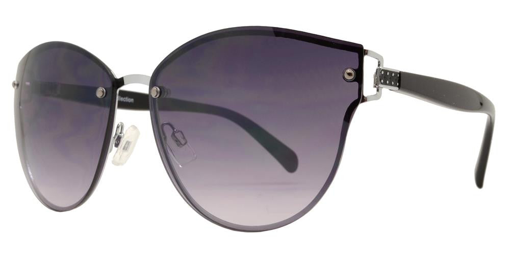 Wholesale - FC 6332 - Rimless Horn Rimmed Round Women Metal Sunglasses - Dynasol Eyewear