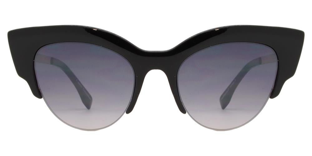 Wholesale - FC 6344 - Pointy Cat Eye Half Rimmed Women Plastic Sunglasses - Dynasol Eyewear