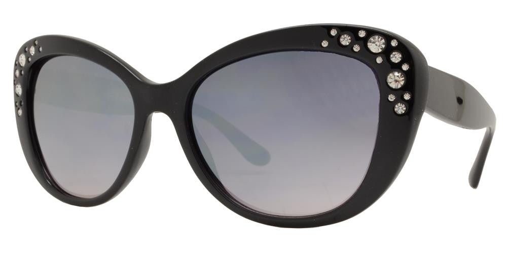 Dynasol Eyewear - Wholesale Sunglasses - FC 6349 - Cat Eye Rhinestone Women Plastic Sunglasses - sunglasses
