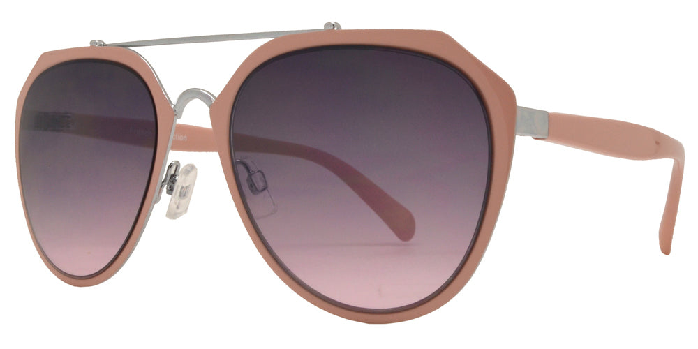 Dynasol Eyewear - Wholesale Sunglasses - FC 6366 - Brow Bar Aviator Metal Sunglasses - sunglasses