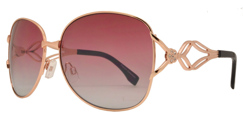 Dynasol Eyewear - Wholesale Sunglasses - FC 6369 - Women Butterfly with Rhinestone Accent Metal Sunglasses - sunglasses