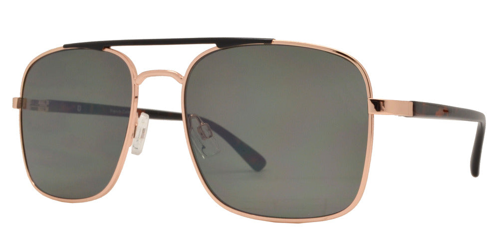 Wholesale - FC 6372 - Square Aviator with Brow Bar Metal Sunglasses - Dynasol Eyewear
