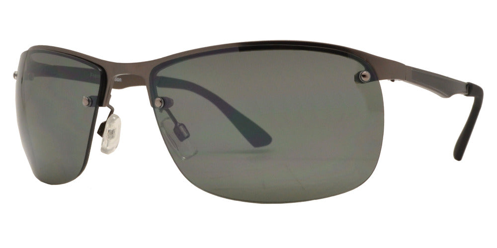 Dynasol Eyewear - Wholesale Sunglasses - FC 6373 - Sport Half Rimmed Men Metal Sunglasses - sunglasses