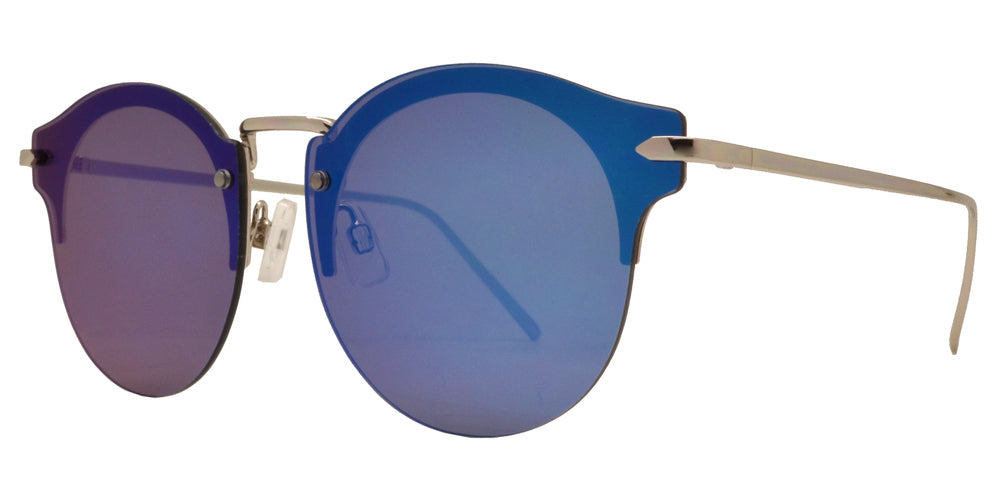 Wholesale - FC 6385 - Rimless Retro Round Horn Rimmed Metal Sunglasses - Dynasol Eyewear