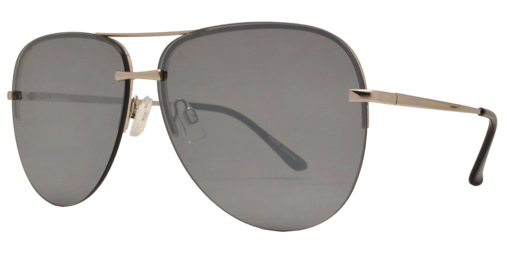 Wholesale - FC 6388 - Rimless Aviator Metal Sunglasses - Dynasol Eyewear