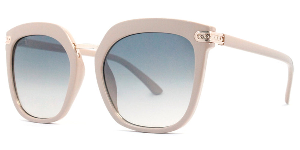 Wholesale - FC 6400 - Retro Square Horn Rimmed Plastic Sunglasses - Dynasol Eyewear