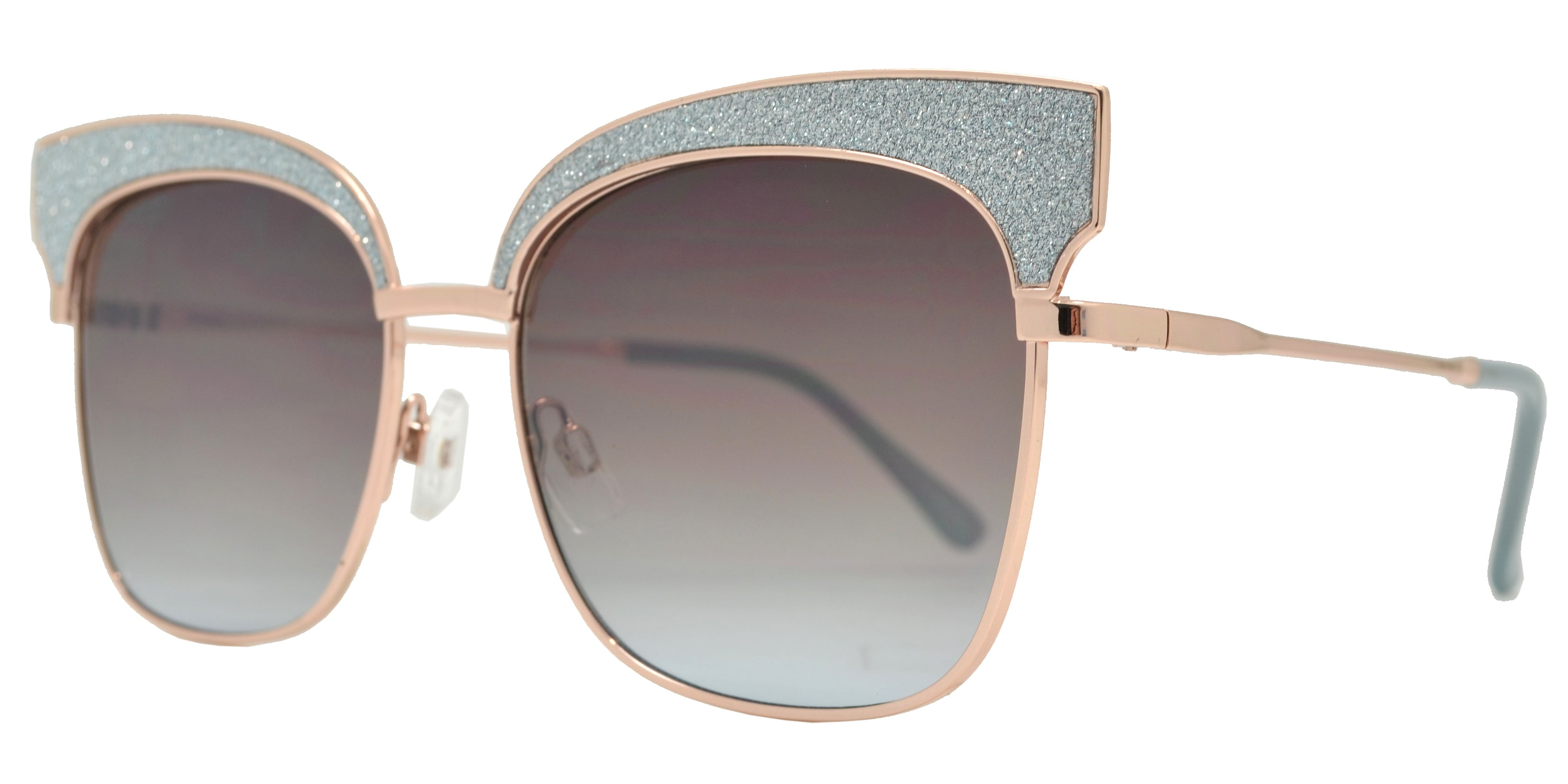 Dynasol Eyewear - Wholesale Sunglasses - FC 6408 - Women's Slim Square with Glitter Accent Sunglasses - sunglasses