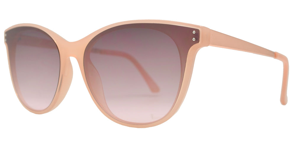 Wholesale - FC 6410 - Horn Rimmed Women's Cat Eye Plastic Sunglasses with Flat Lens - Dynasol Eyewear