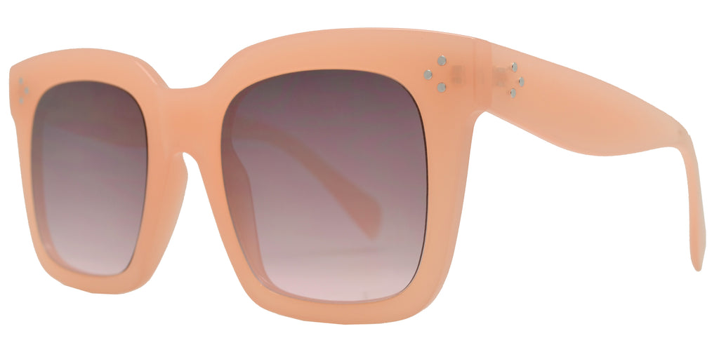 Dynasol Eyewear - Wholesale Sunglasses - FC 6413 - Women's Large Square Plastic Sunglasses - sunglasses