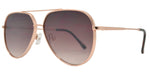 Dynasol Eyewear - Wholesale Sunglasses - FC 6414 - Flat Lens Aviator Sunglasses with Color Mirror Lens - sunglasses