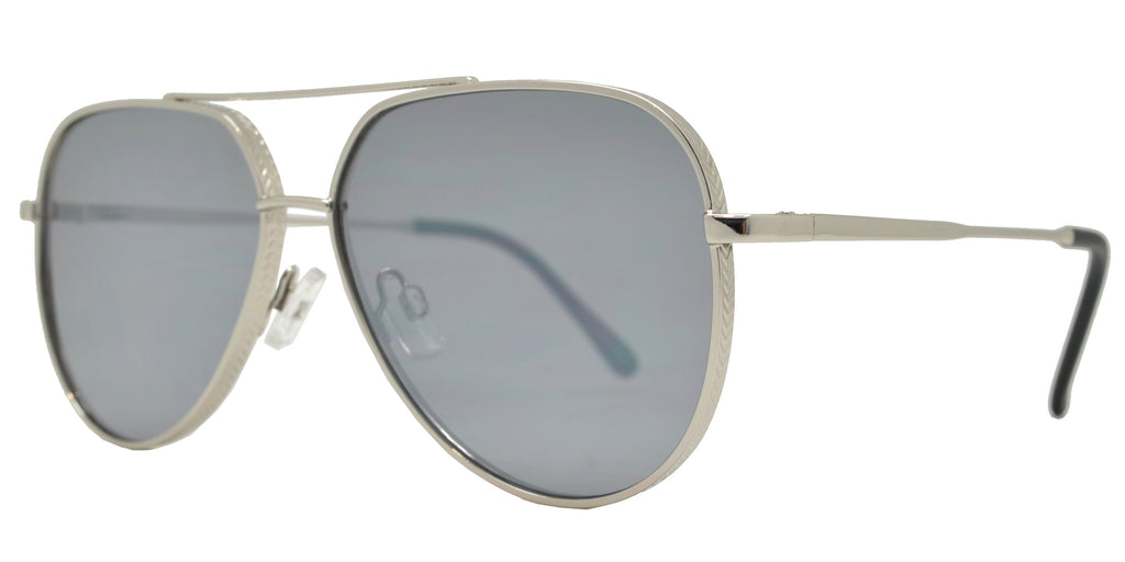 Wholesale - FC 6414 - Oval Shaped Sunglasses with Color Mirror Flat Lens - Dynasol Eyewear