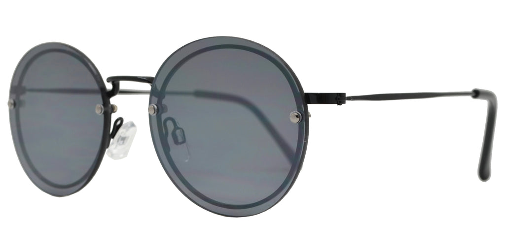 Dynasol Eyewear - Wholesale Sunglasses - FC 6418 - Small Round Rimless Metal Sunglasses - sunglasses