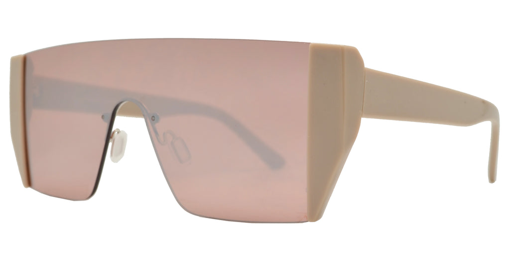 Wholesale - FC 6421 - Retro One Piece Plastic Sunglasses - Dynasol Eyewear