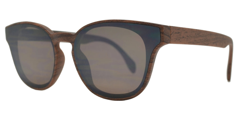 FC 6423 - Classic Horn Rimmed Key Hole Sunglasses with Flat Lens