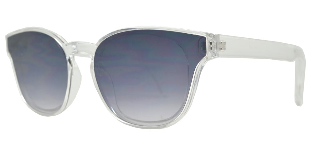 Wholesale - FC 6423 - Classic Horn Rimmed Key Hole Sunglasses with Flat Lens - Dynasol Eyewear