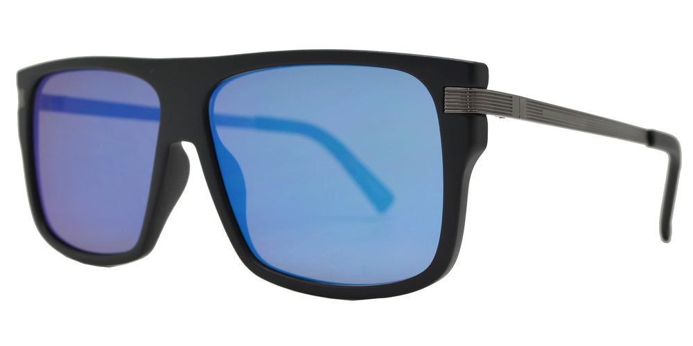 FC 6429 - Square Plastic Flat Top Men Sports Sunglasses with Flat Lens