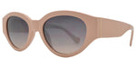 Dynasol Eyewear - Wholesale Sunglasses - FC 6432 - Women's Retro Chunky Oval Plastic Sunglasses - sunglasses