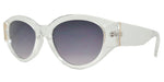 Wholesale - FC 6432 - Women's Retro Chunky Oval Plastic Sunglasses - Dynasol Eyewear