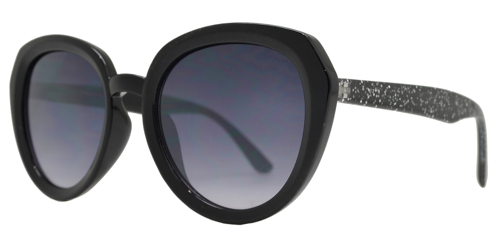 Dynasol Eyewear - Wholesale Sunglasses - FC 6433 - Women's Round Cat Eye Plastic Sunglasses with Slim Temple - sunglasses