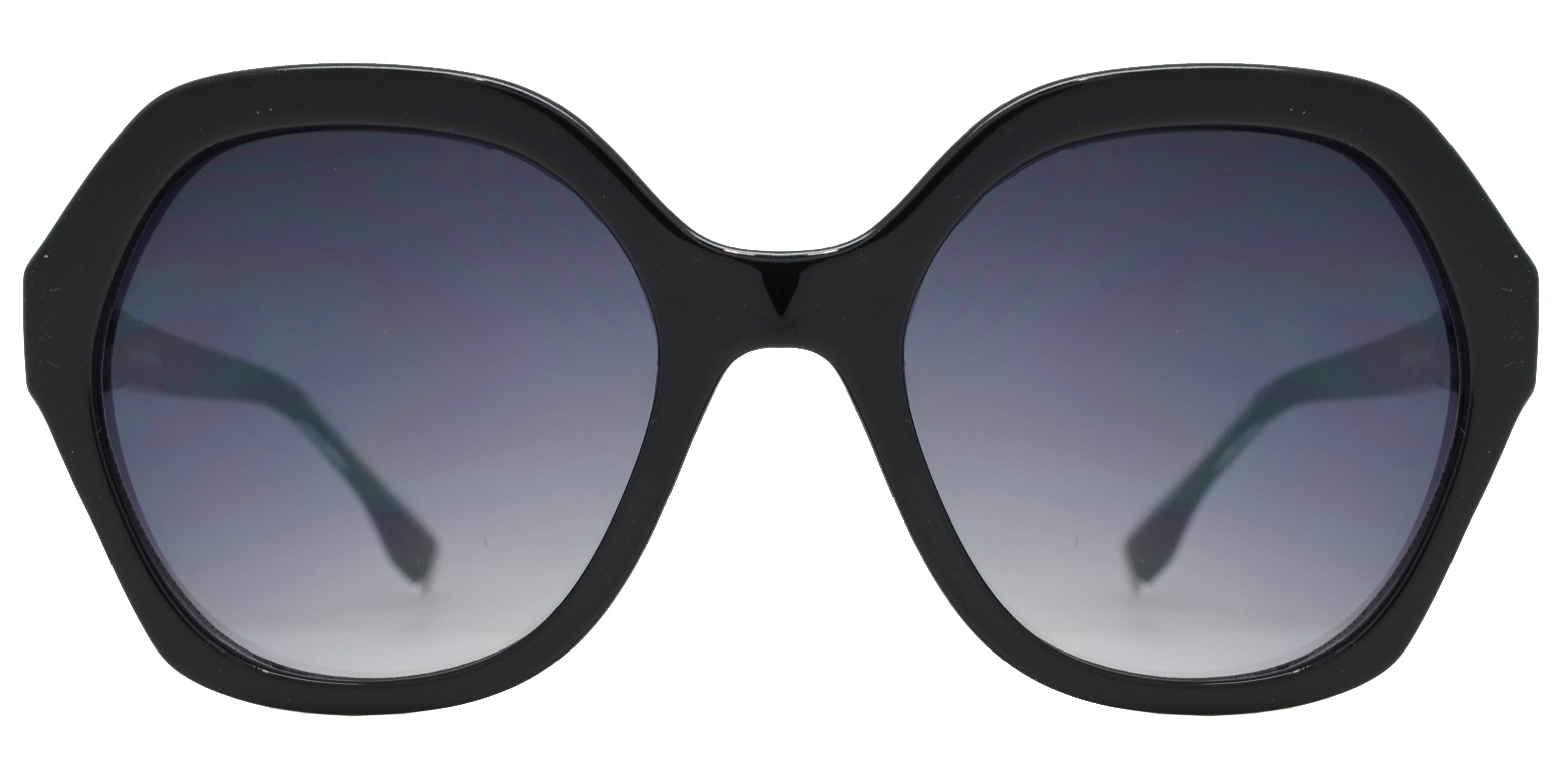 FC 6436 - Women's Plastic Hexagon Sunglasses with Metal Studs