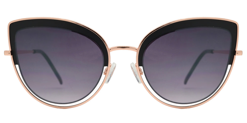 Dynasol Eyewear - Wholesale Sunglasses - FC 6440 - Retro Metal Cut Out Cat Eye Sunglasses for Women - sunglasses