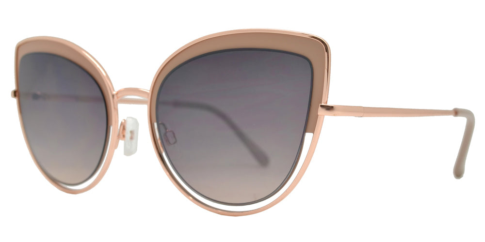 Wholesale - FC 6440 - Retro Metal Cut Out Cat Eye Sunglasses for Women - Dynasol Eyewear