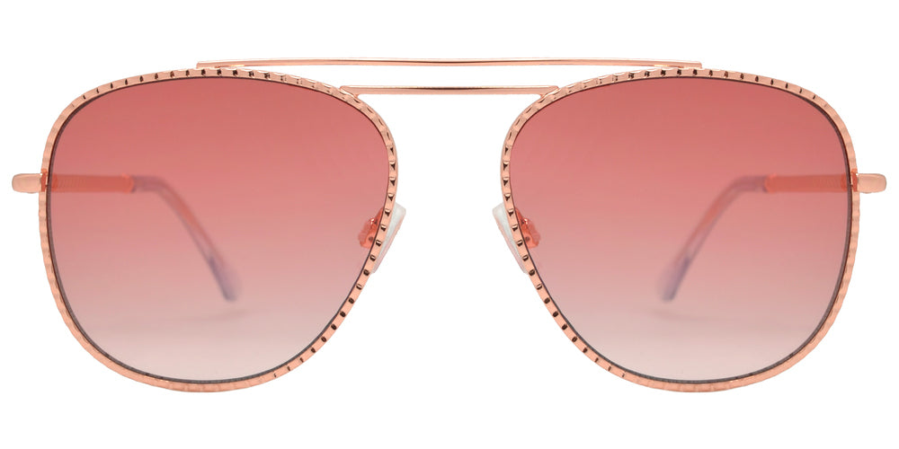 FC 6441 - Fashion Metal Aviator Sunglasses with Double Brow Bar for Women