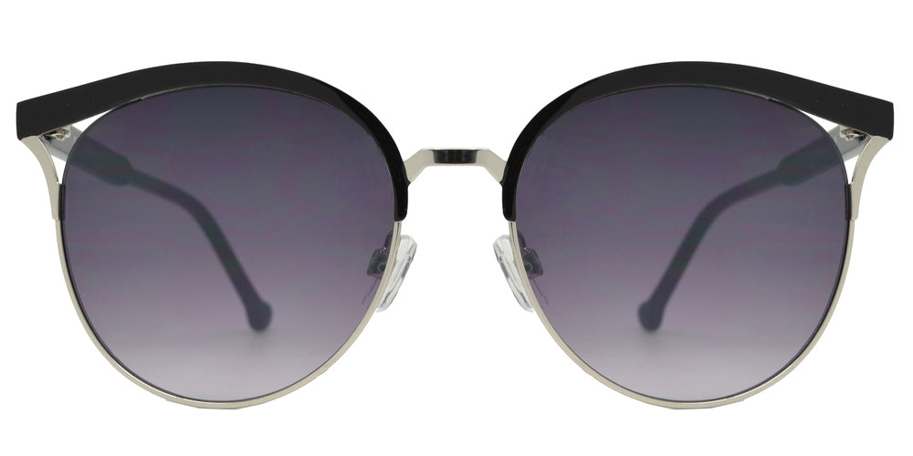 FC 6444 - Round Metal Cat Eye Cut Out Women's Sunglasses