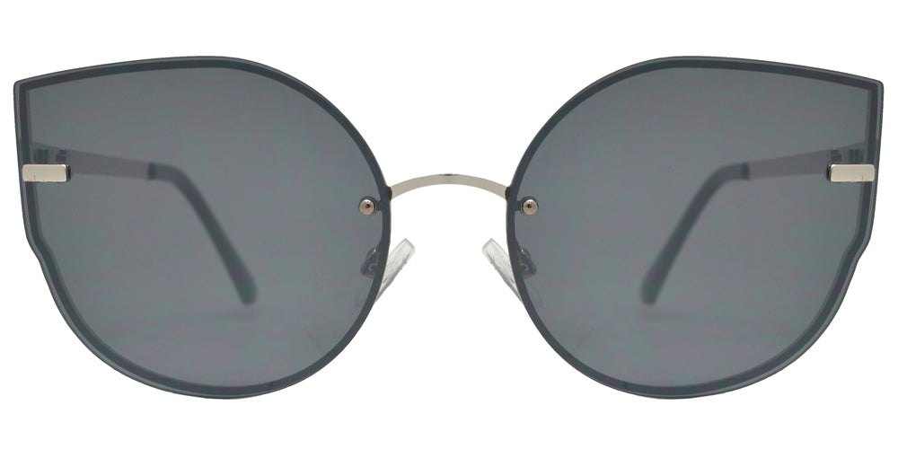FC 6448 - Rimless Women's Metal Cat Eye Sunglasses with Flat Lens