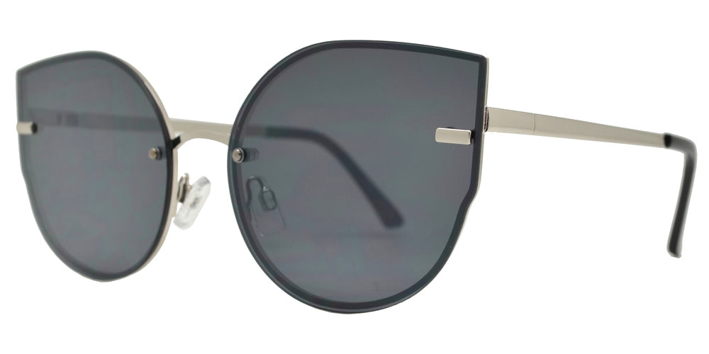 Wholesale - FC 6448 - Rimless Women's Metal Cat Eye Sunglasses with Flat Lens - Dynasol Eyewear