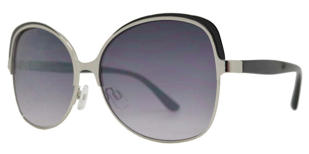 FC 6455 - Fashion Square Metal Butterfly Sunglasses
