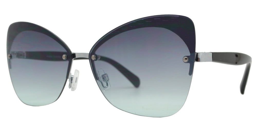 FC 6456 - Rimless Metal Cat Eye Sunglasses