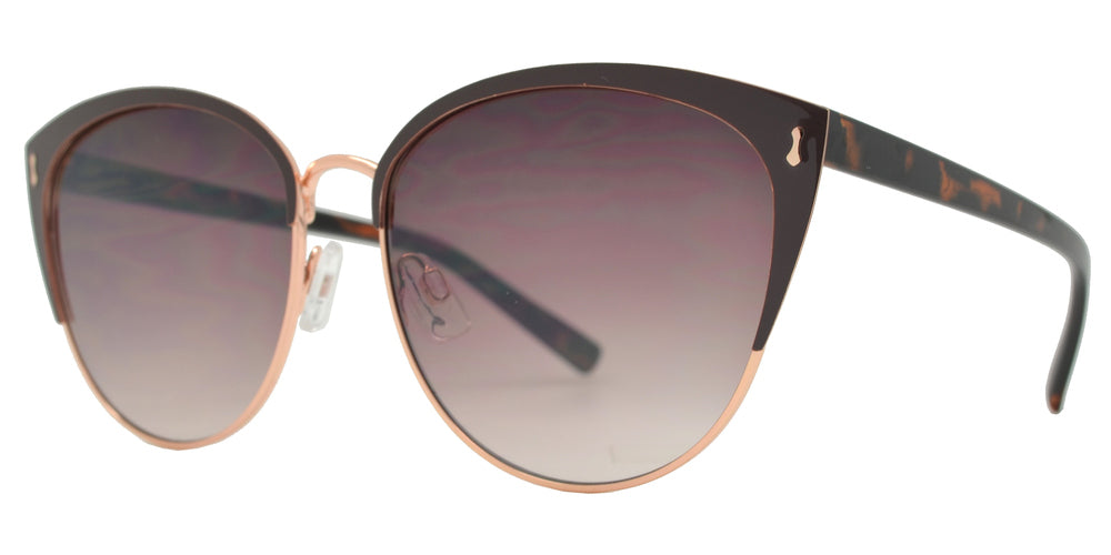 Wholesale - FC 6459 - Women's Round Metal Cat Eye Sunglasses - Dynasol Eyewear