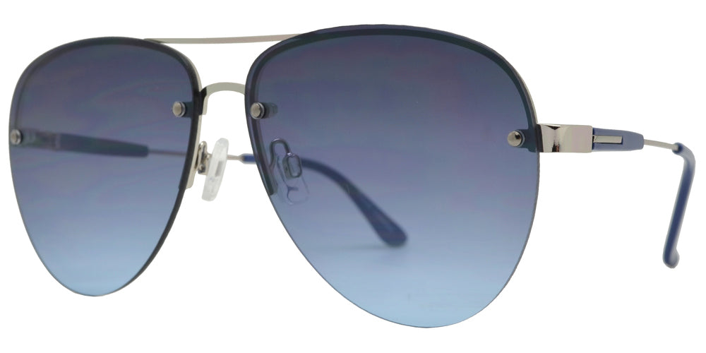 FC 6460 - Rimless Oval Shaped Metal Sunglasses