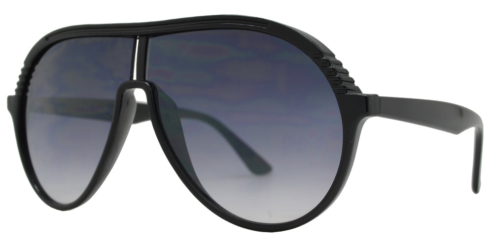FC 6464 - Retro Aviator Flat Top Plastic Sunglasses