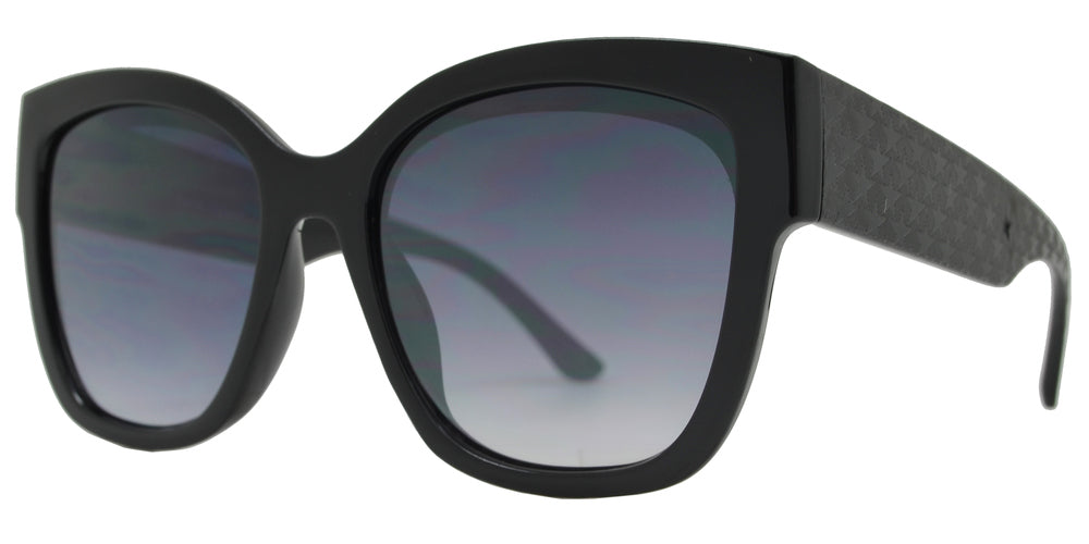 FC 6465 - Square Chunky Temple Plastic Sunglasses