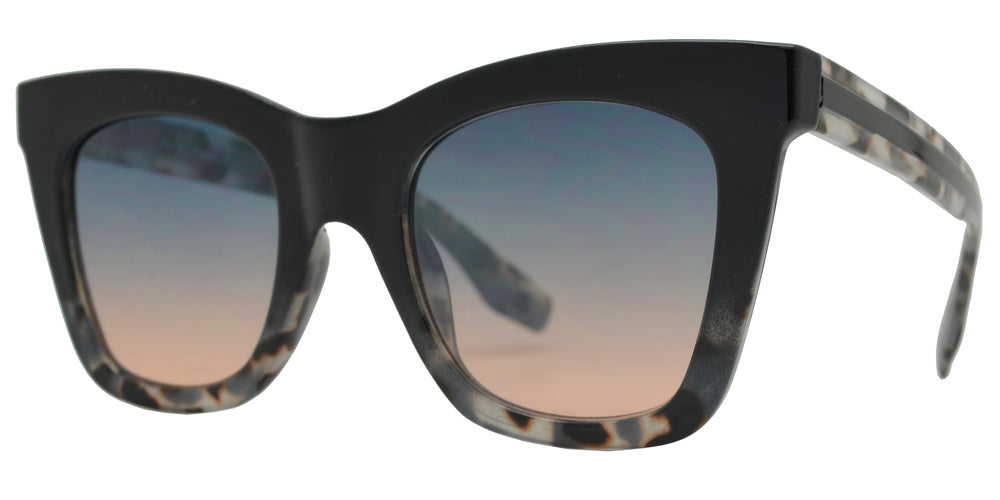 FC 6470 - Women Square Chunky Plastic Sunglasses with Flat Lens