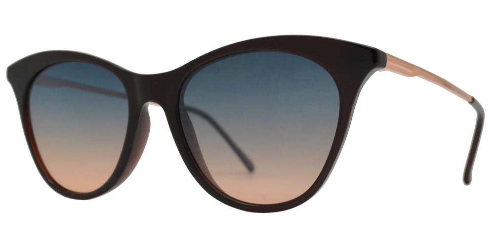 Wholesale - FC 6475 - Plastic Cat Eye Sunglasses with Flat Lens - Dynasol Eyewear