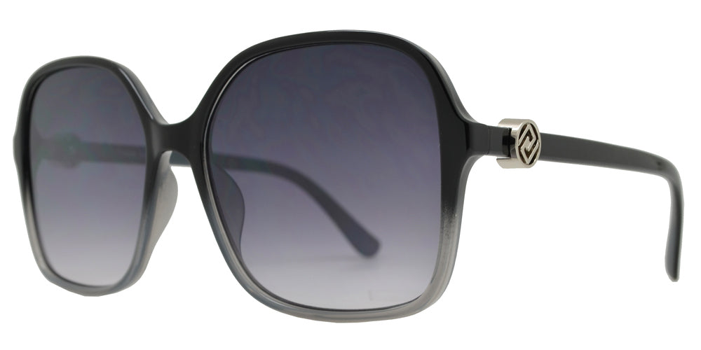 Wholesale - FC 6480 - Square Sunglasses with Metal Accent - Dynasol Eyewear