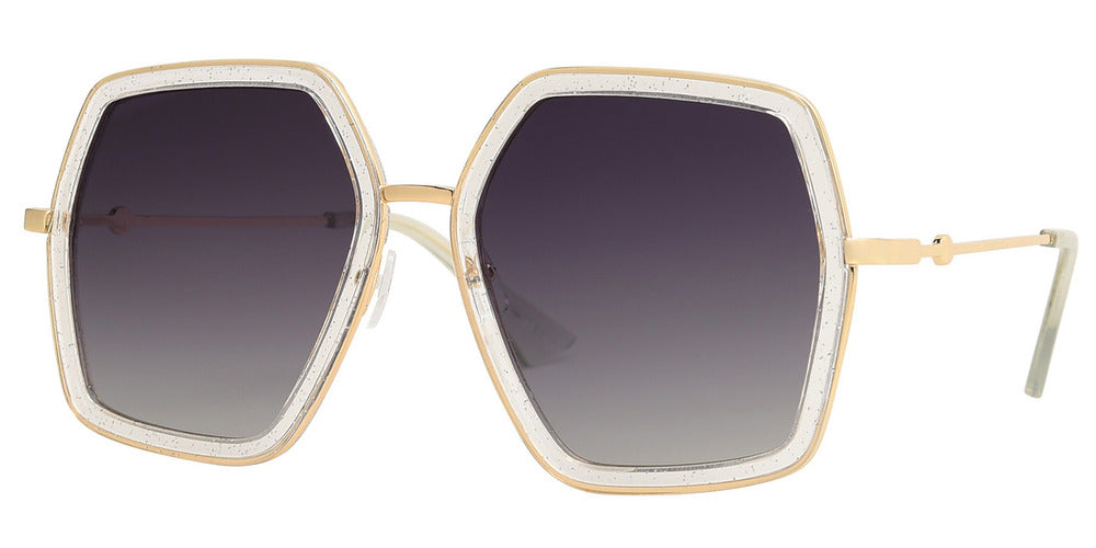 8784 - Bulk Oversize Hexagon Sunglasses