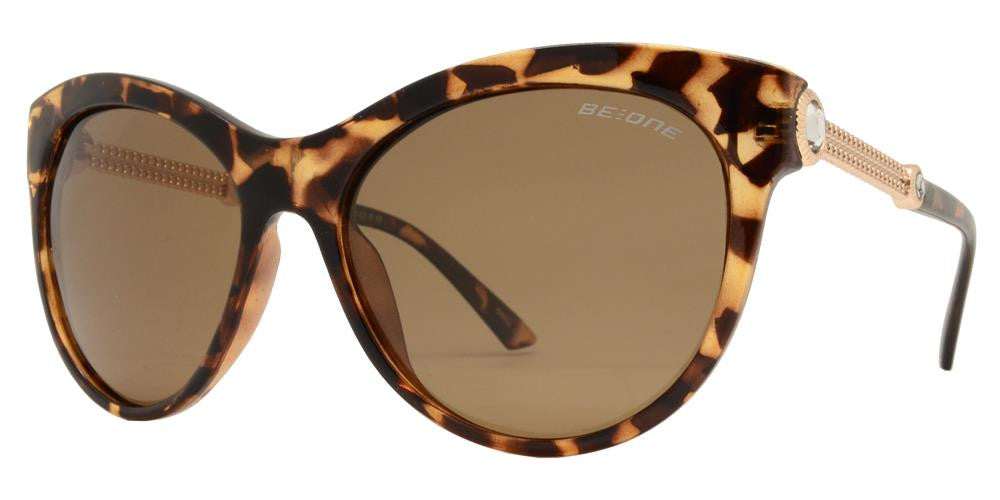 Wholesale - PL Katy - Polarized Women Cat Eye Rhinestone Accent Plastic Sunglasses - Dynasol Eyewear