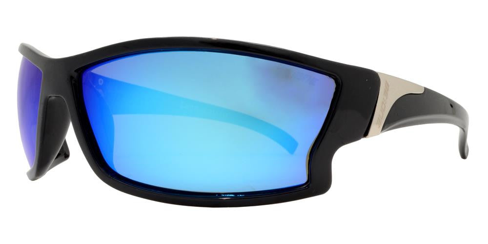 Dynasol Eyewear - Wholesale Sunglasses - PL Leon - Polarized Men Sport Wrap Around Plastic Sunglasses - sunglasses