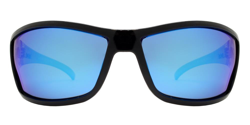 Wholesale - PL Leon - Polarized Men Sport Wrap Around Plastic Sunglasses - Dynasol Eyewear