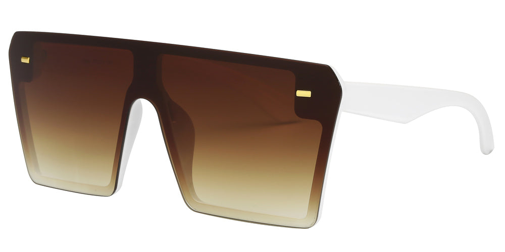 Wholesale - 7964 - Oversized Sunglasses with Flat Top and Flat Lens - Dynasol Eyewear